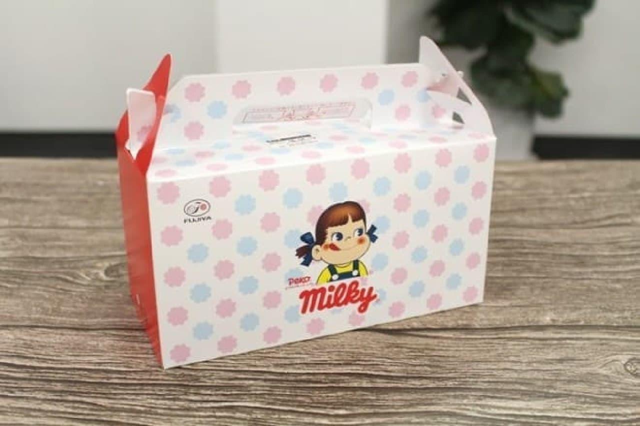 不二家 ミルキーデザインのケーキ箱