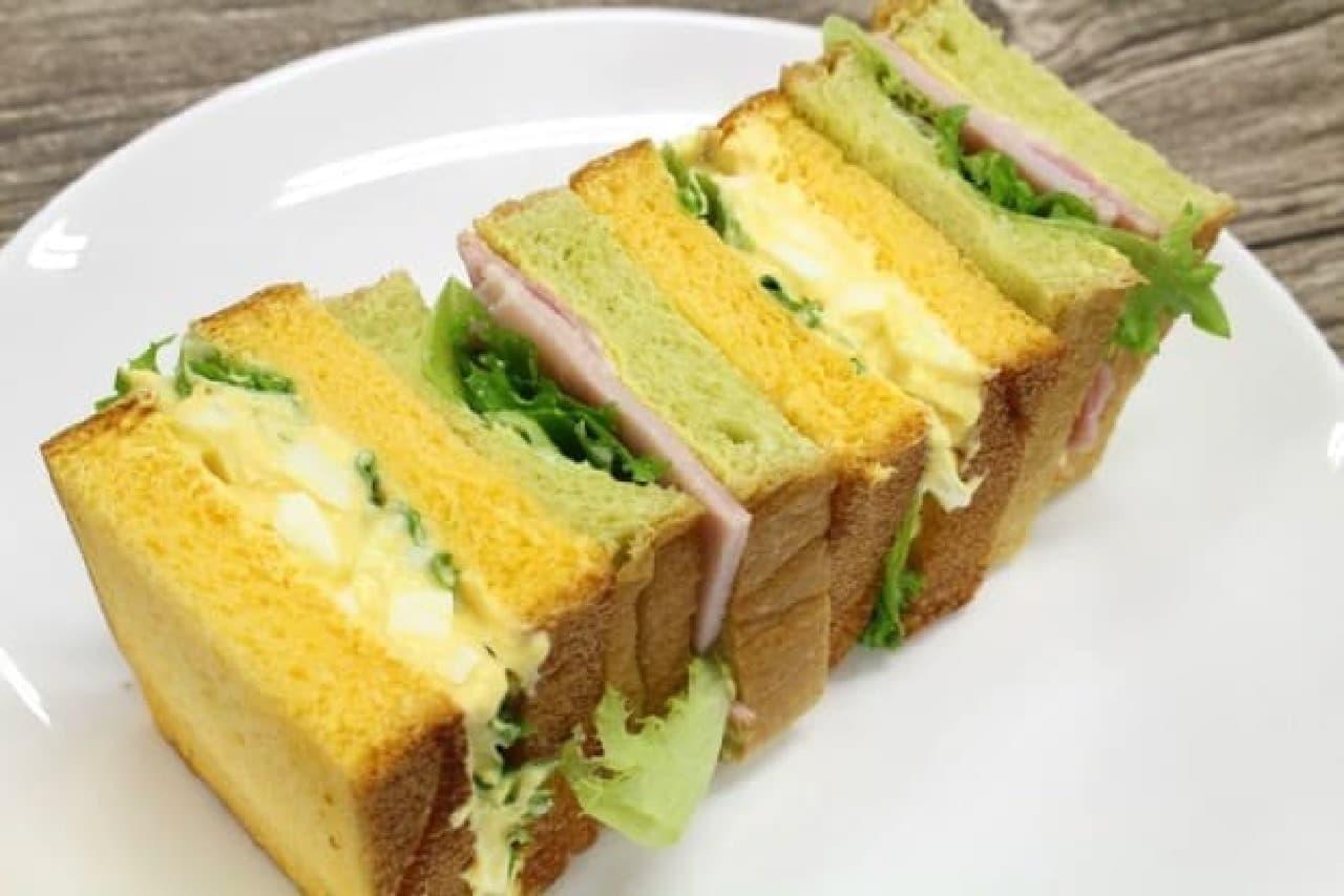 リトルマーメイド 野菜くだものパンのサンドイッチ