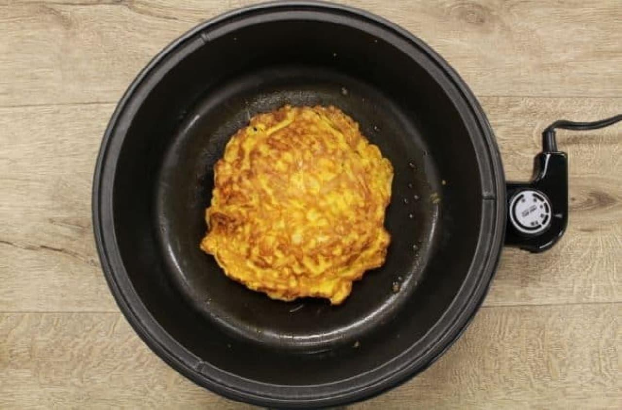 チキンラーメンポテトスナックの卵とじ
