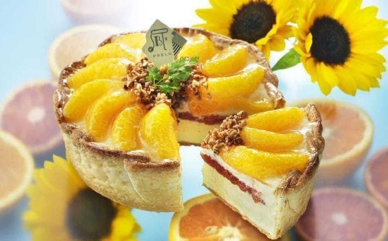 パブロ「~真夏のひまわり~ たっぷりオレンジのチーズタルト」
