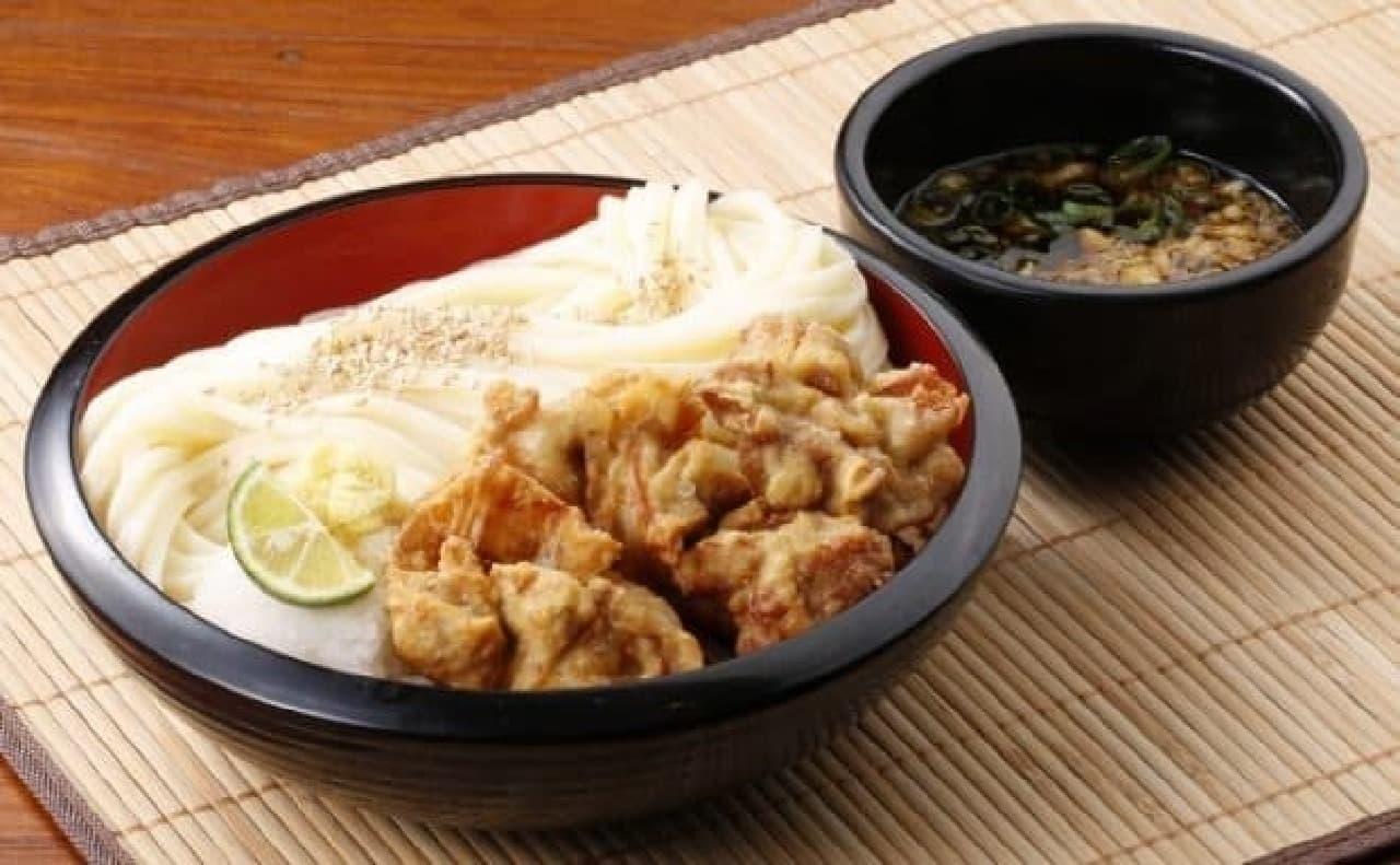 丸亀製麺「唐揚げざるうどん」