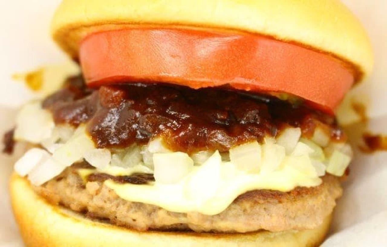 モスバーガー「バーベキューモスバーガー 野菜と果実の特製ソース」