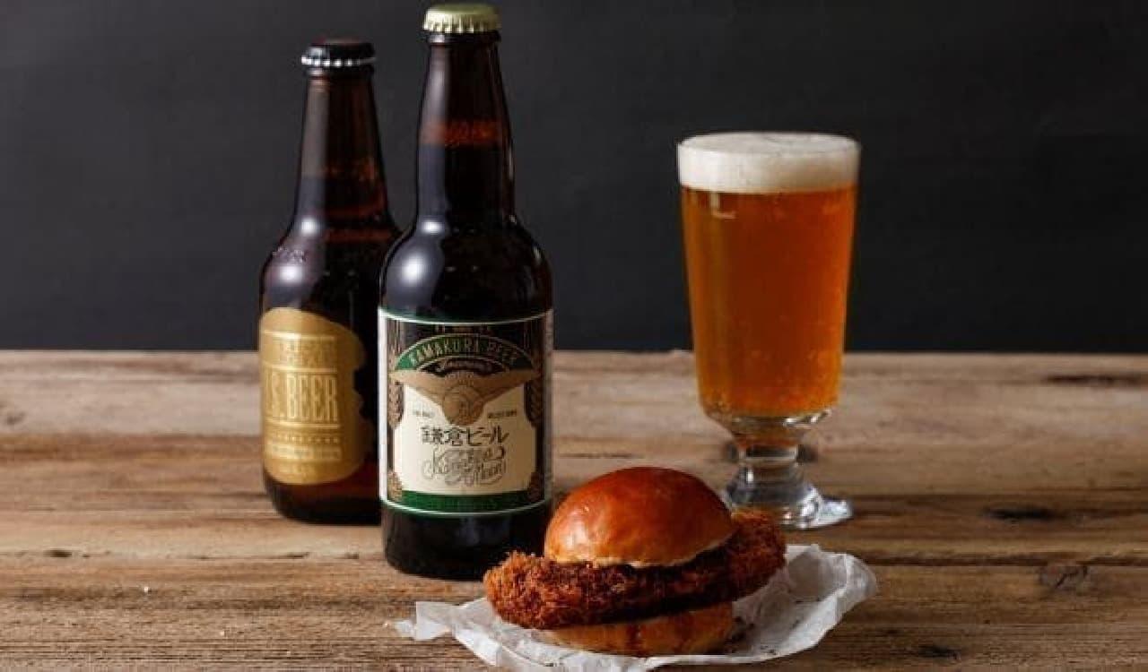 J.S. BURGERS CAFE「オーバーメンチカツバーガー」とビール