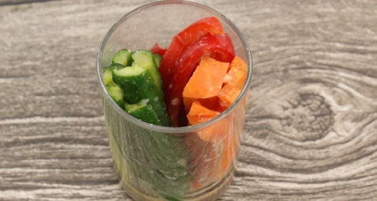 日曜日の実験室「豆腐と野菜の甘酒味噌漬け」