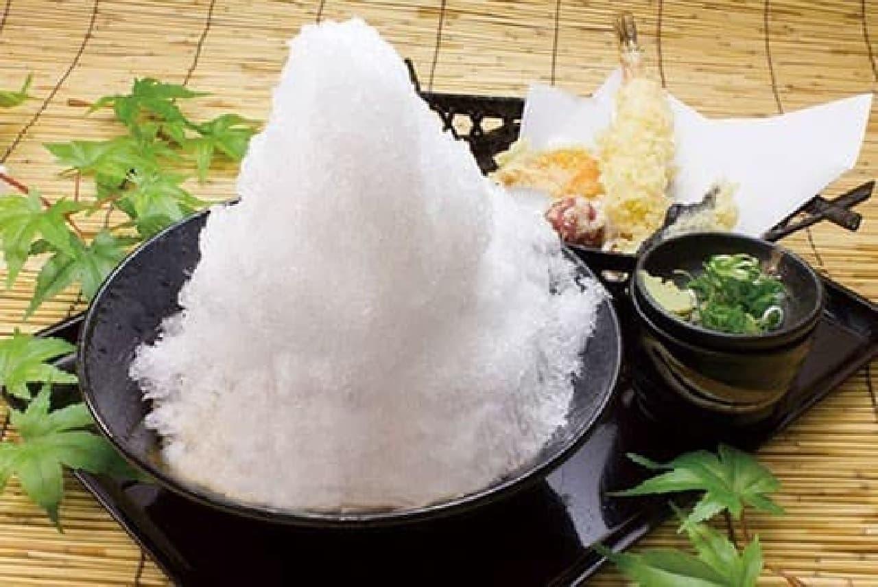 阪急そば若菜「かき氷そば・うどん」