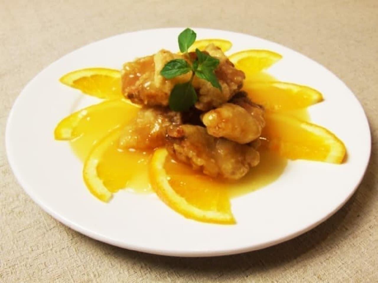 愛知の中華料理店「盛香倫(セイカリン)」の「エビス鯛の香味揚げオレンジソース」