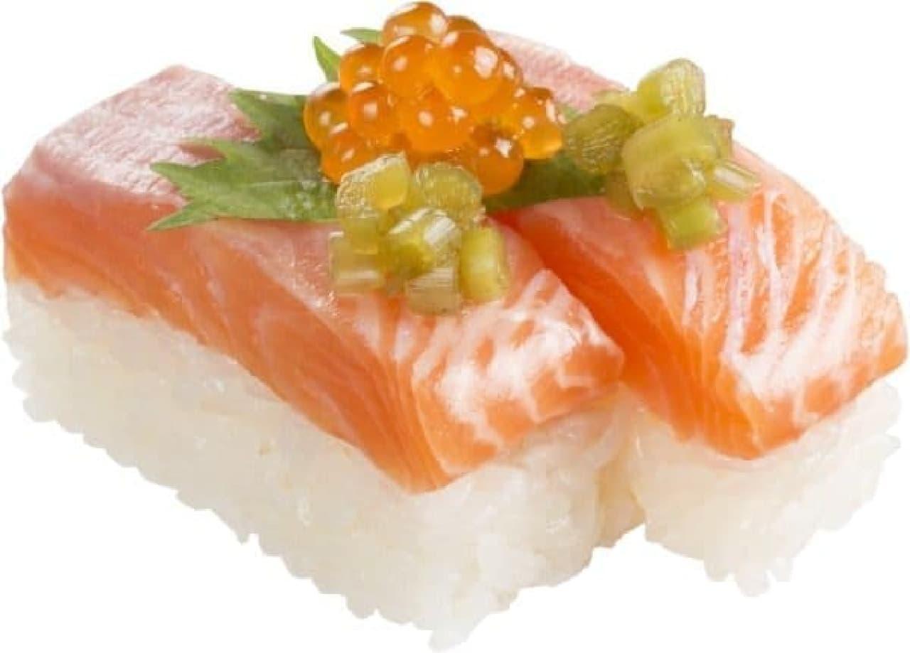 静岡県内のあきんどスシロー「静岡ぎゅっと鱒寿司」
