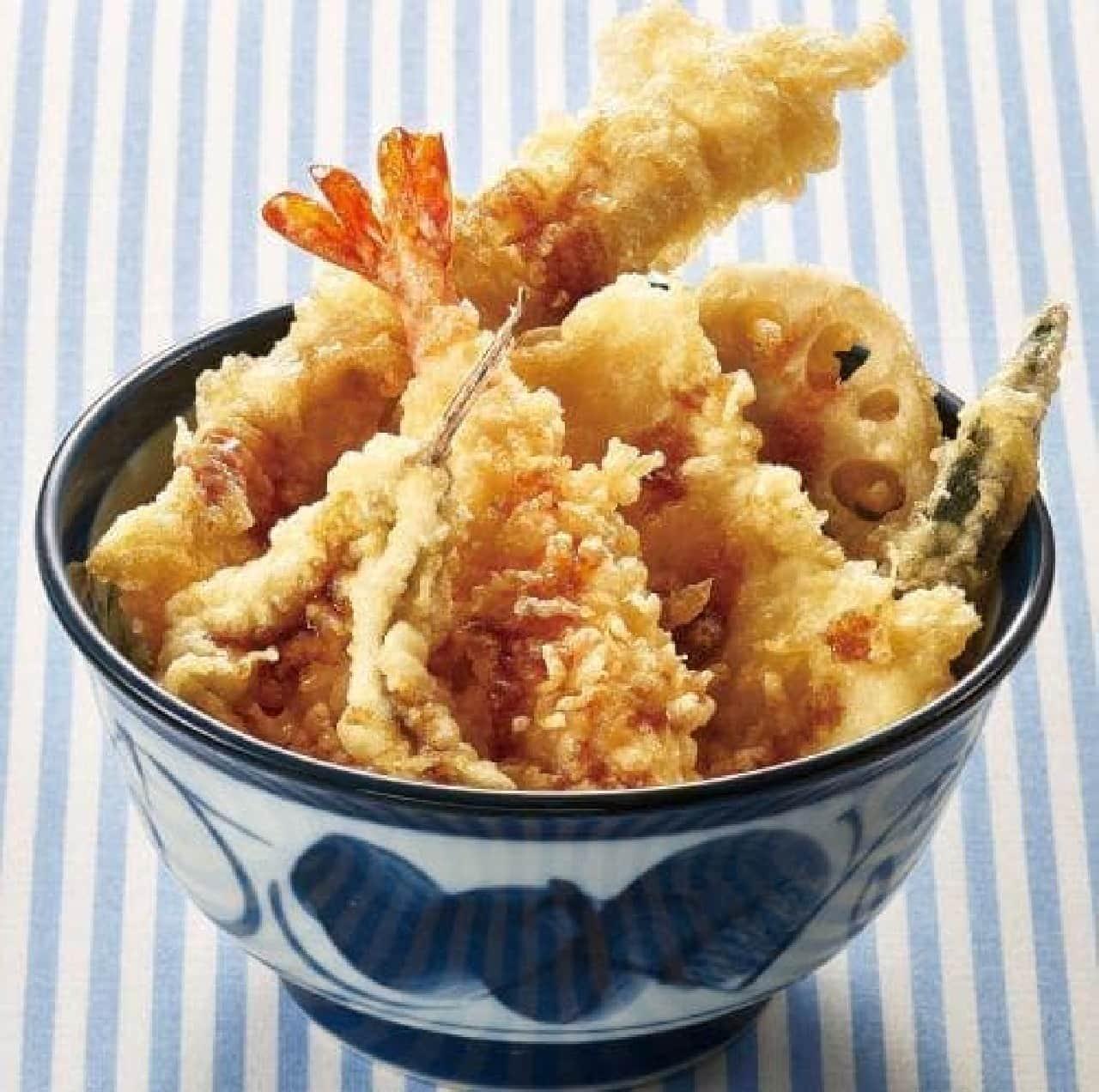 てんや「活〆穴子と海老・めごちの夏天丼」