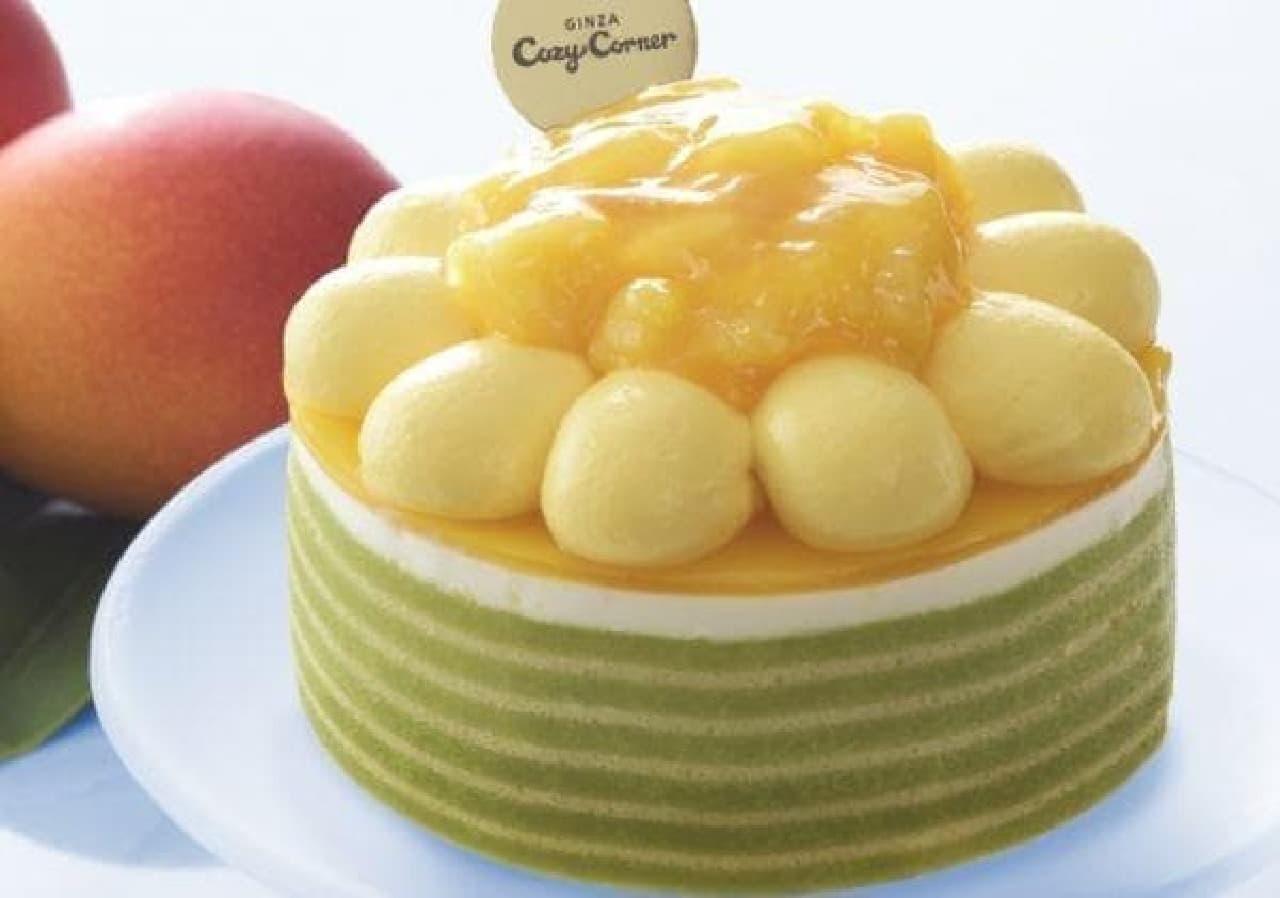 銀座コージーコーナー「マンゴーのひまわりケーキ」