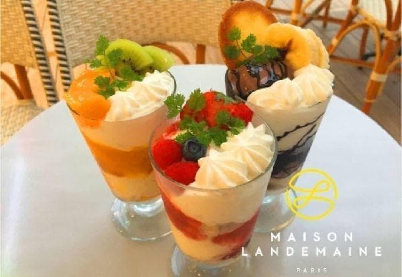 メゾン・ランドゥメンヌの贅沢パフェ