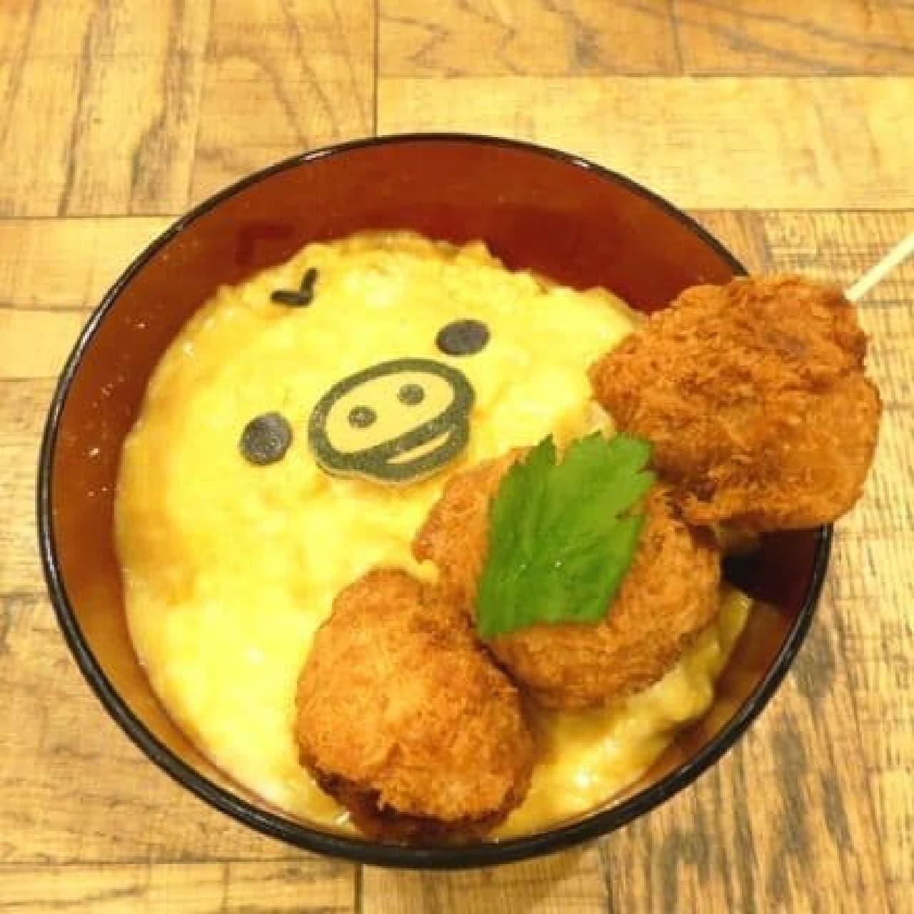 リラックマ×TOWER RECORDSキャンペーン2016、RILAKKUMA×TOWER RECORDS CAFE表参道店「キイロイトリのカツ丼」