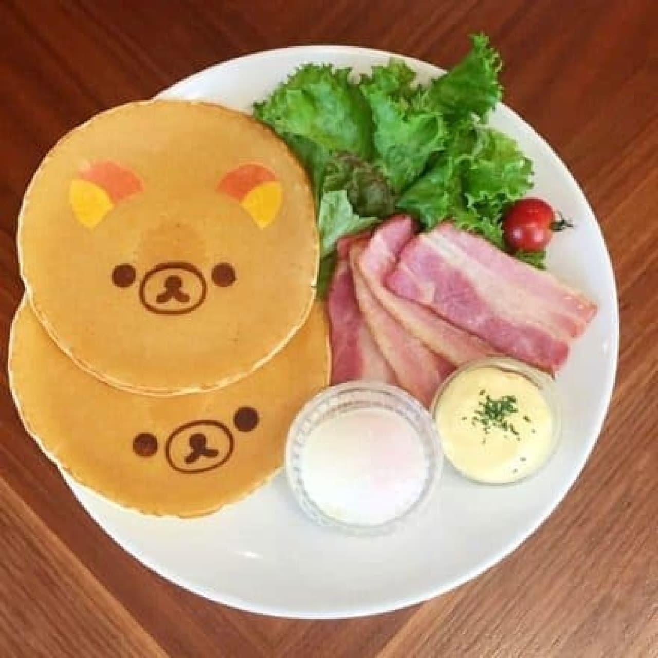 リラックマ×TOWER RECORDSキャンペーン2016、RILAKKUMA×TOWER RECORDS CAFE渋谷店のリラックマパンケーキ