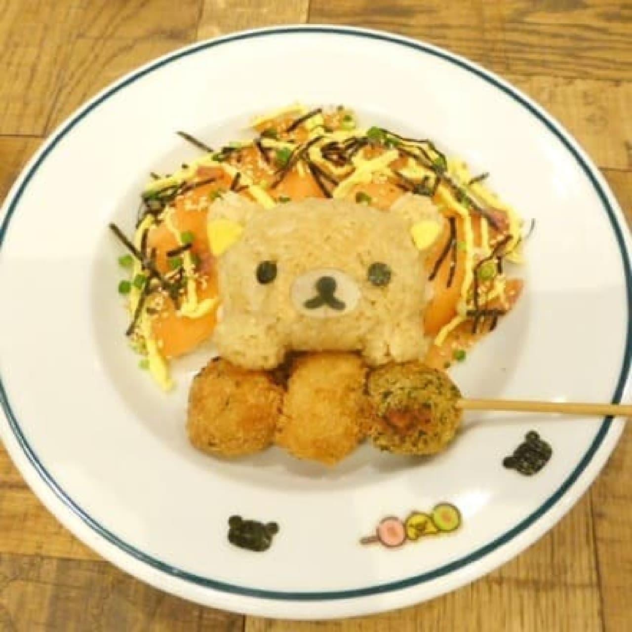 リラックマ×TOWER RECORDSキャンペーン2016、TOWER RECORDS CAFE梅田NU茶屋街店、リラックマのちらし丼