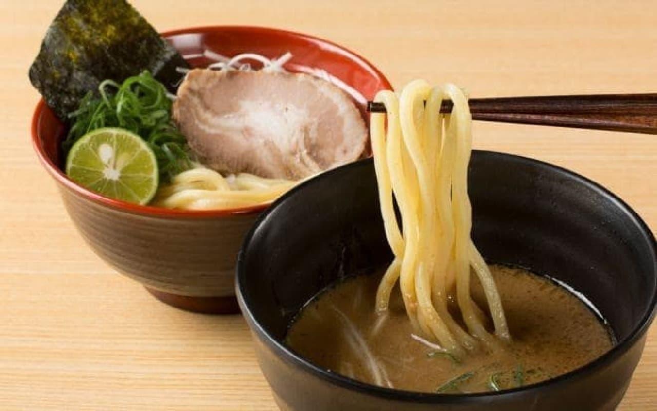 スシロー「鯖系濃厚魚介つけ麺」