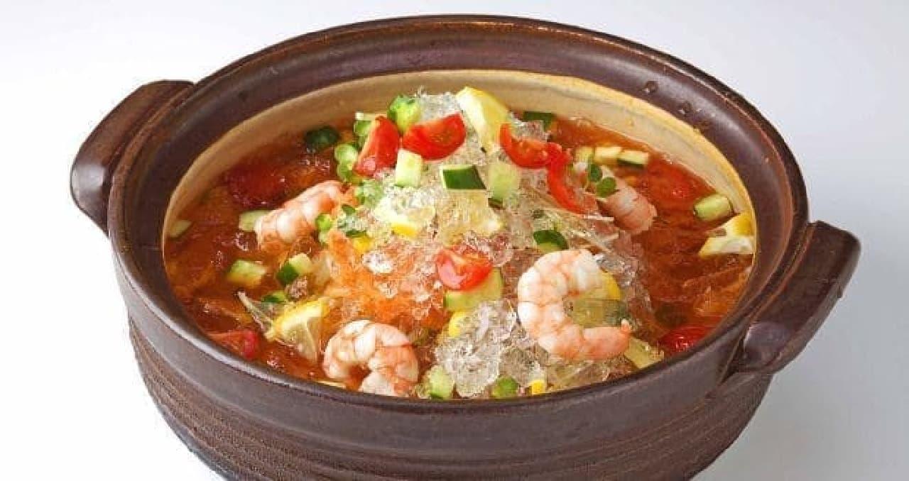 赤から「和風トマトスープ氷鍋」