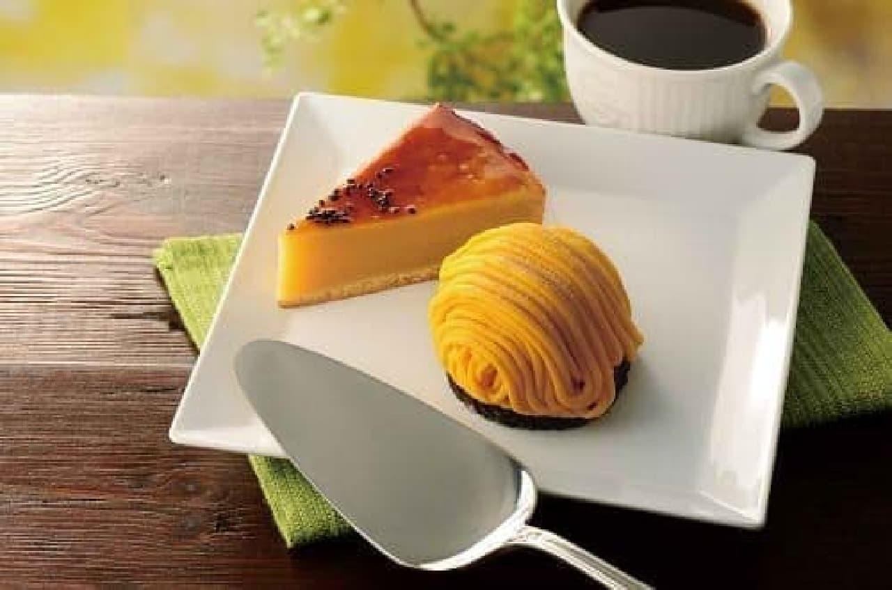 カフェドクリエ スイートポテトケーキ かぼちゃのモンブラン