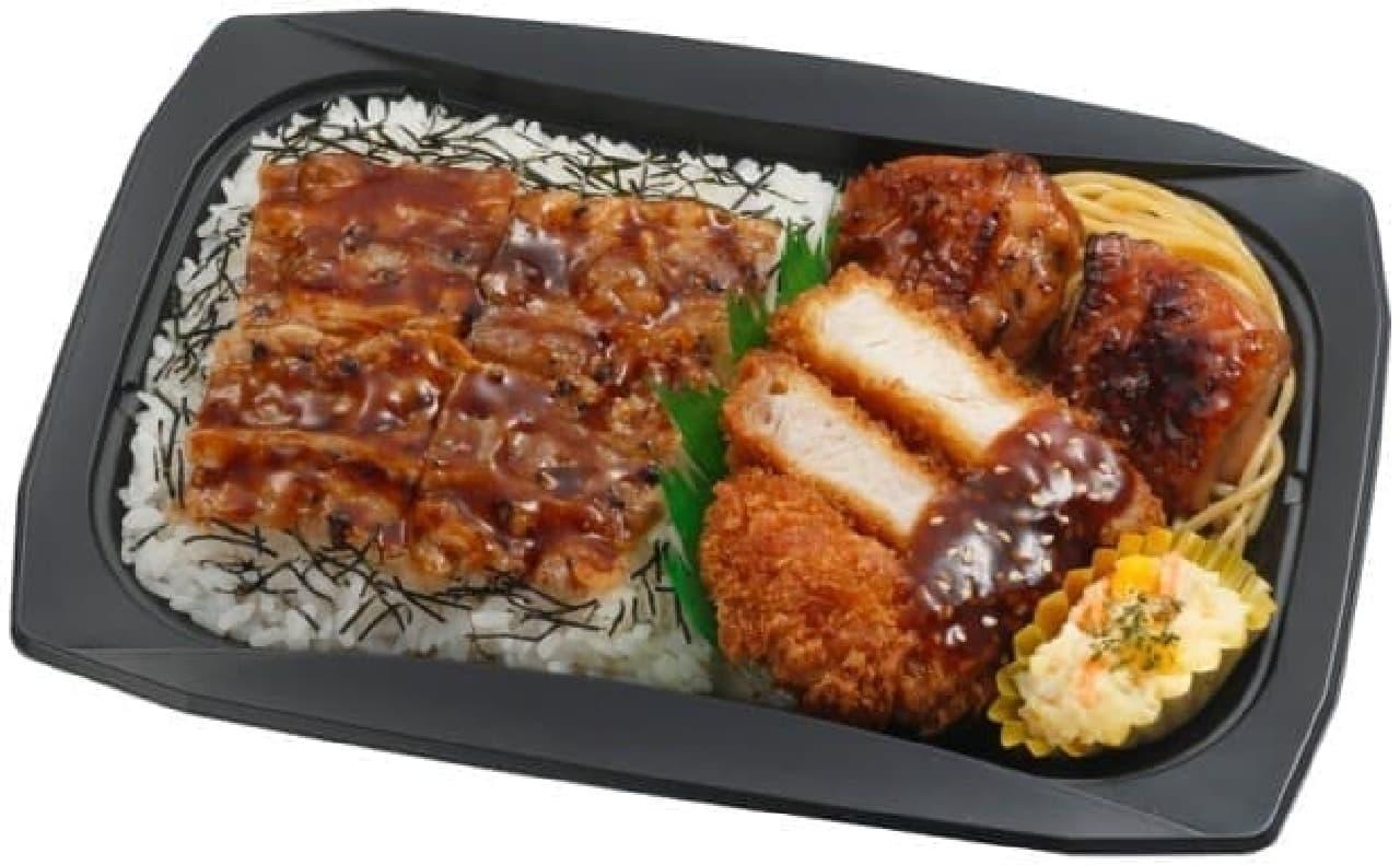 サークルKサンクス「トリプル肉の饗宴弁当」