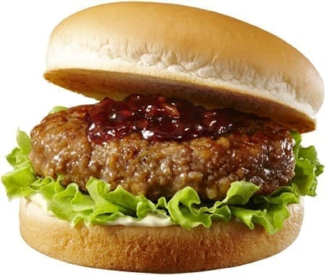 ロッテリア「肉厚ハンバーガー」