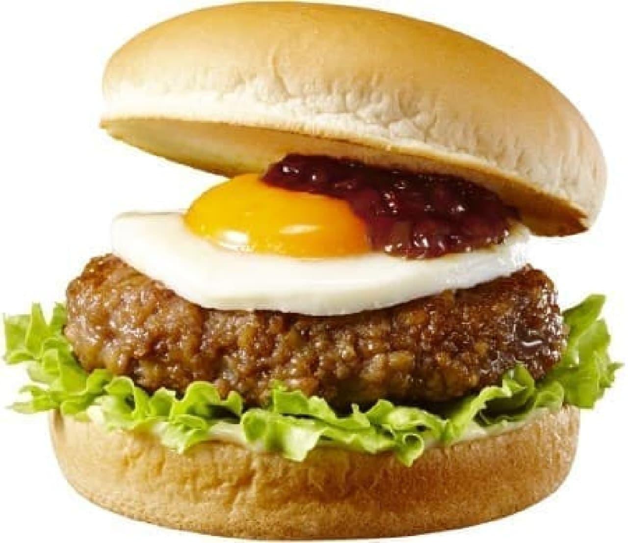ロッテリア「とろ~り月見の肉厚ハンバーガー」