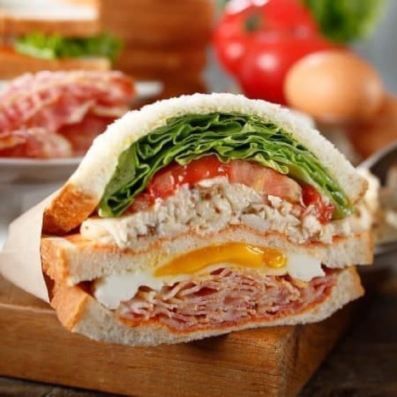 スターバックス「クラブハウスサンドイッチ」