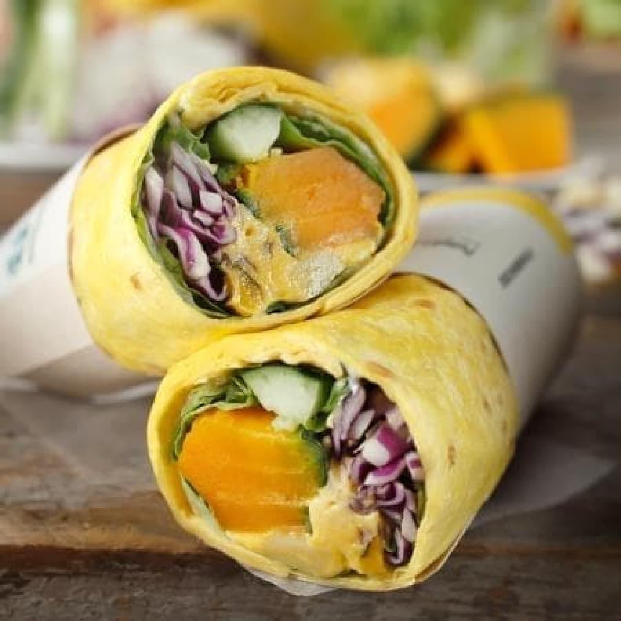 スターバックス「サラダラップパンプキン&クリームチーズ」