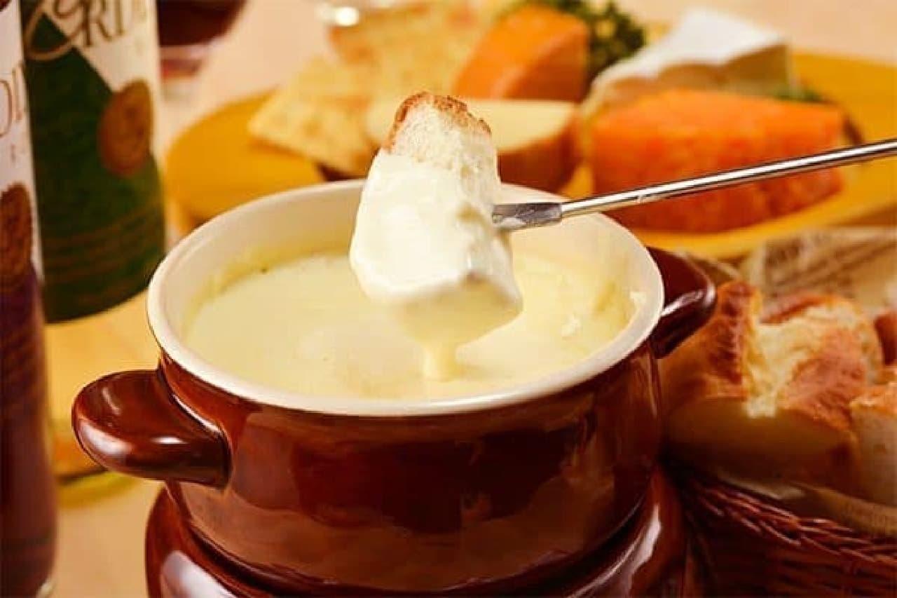 ガーデンファーム「チーズフォンデュ食べ放題プラン」イメージ