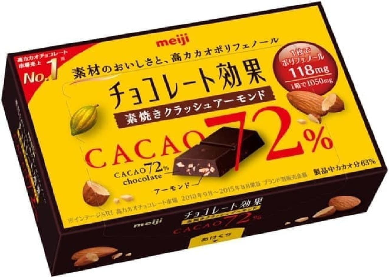明治「チョコレート効果72% 素焼きクラッシュアーモンド」