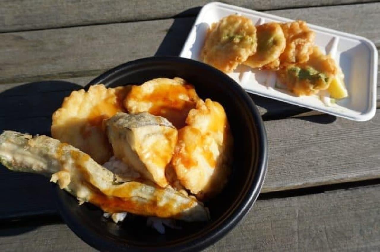 ラブシャのアーティストコラボめし「京野菜10丼」と「鶏10」