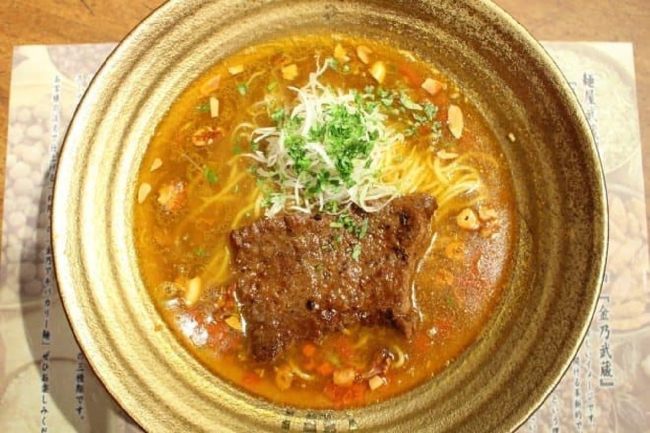 麺屋武蔵武仁「金乃アキバカリー麺」、金乃武蔵第8弾