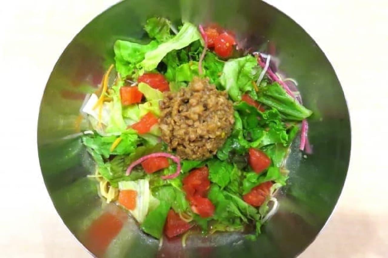 ガスト「冷やしサラダタンタン麺」