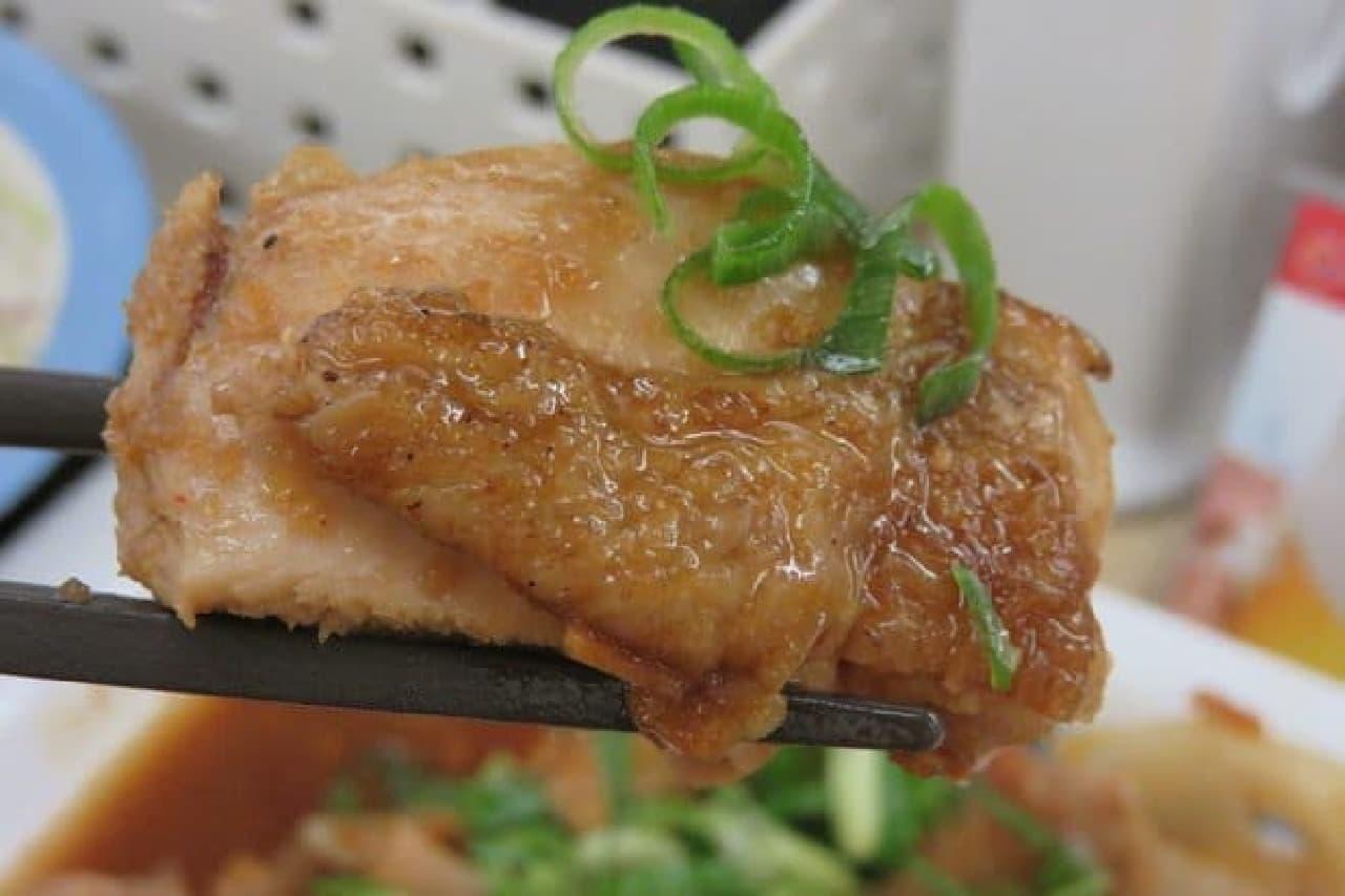 松屋「鶏のバター醤油炒め定食」
