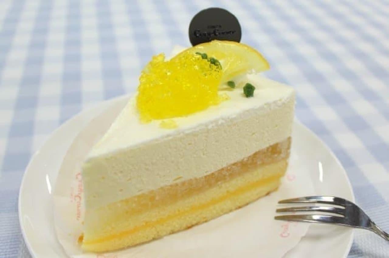 銀座コージーコーナー「塩レモンのレアチーズ(瀬戸内レモン使用)」