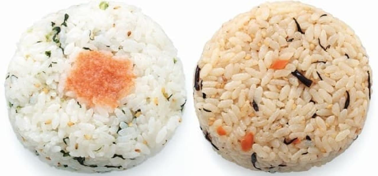 ローソンストア100「オイルおにぎり」野沢菜明太とひじき煮
