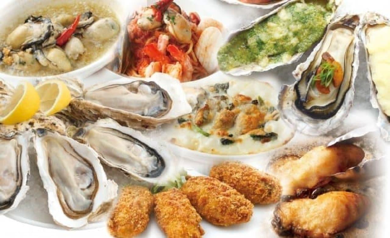 ゼネラル・オイスター「晩夏の生牡蠣食べ放題 テーブルオーダーバイキング」