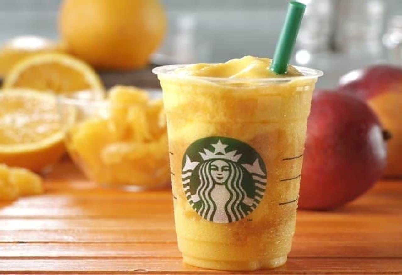スターバックス コーヒー「マンゴー オレンジ フラペチーノ」