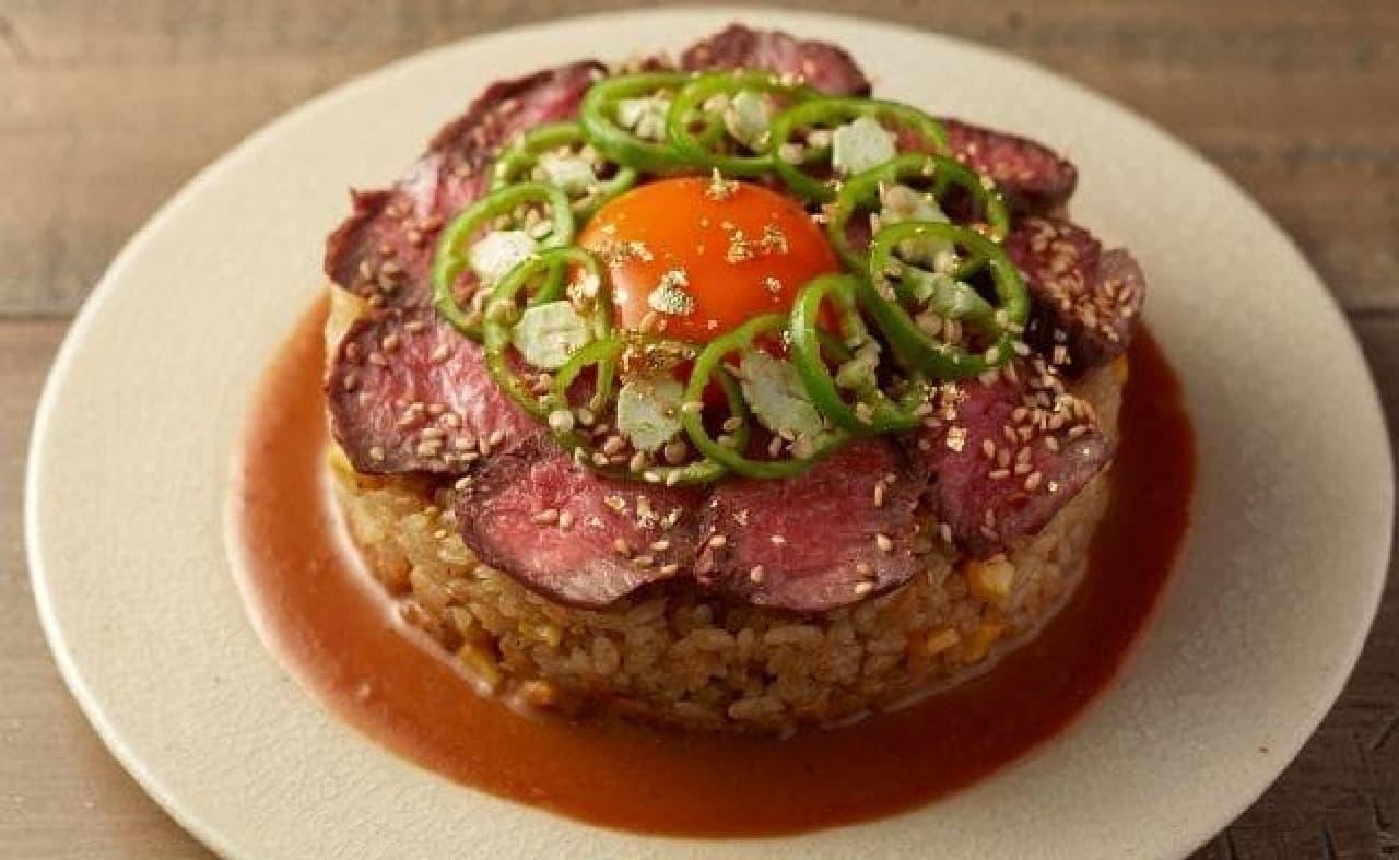 焼肉 KINTAN「黄金の和牛焼肉ライスケーキ」