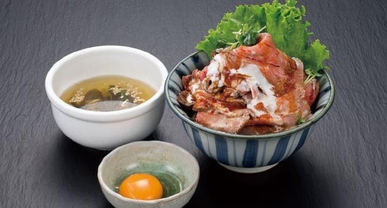 焼肉ジェット「絶品!自家製ローストビーフ丼」