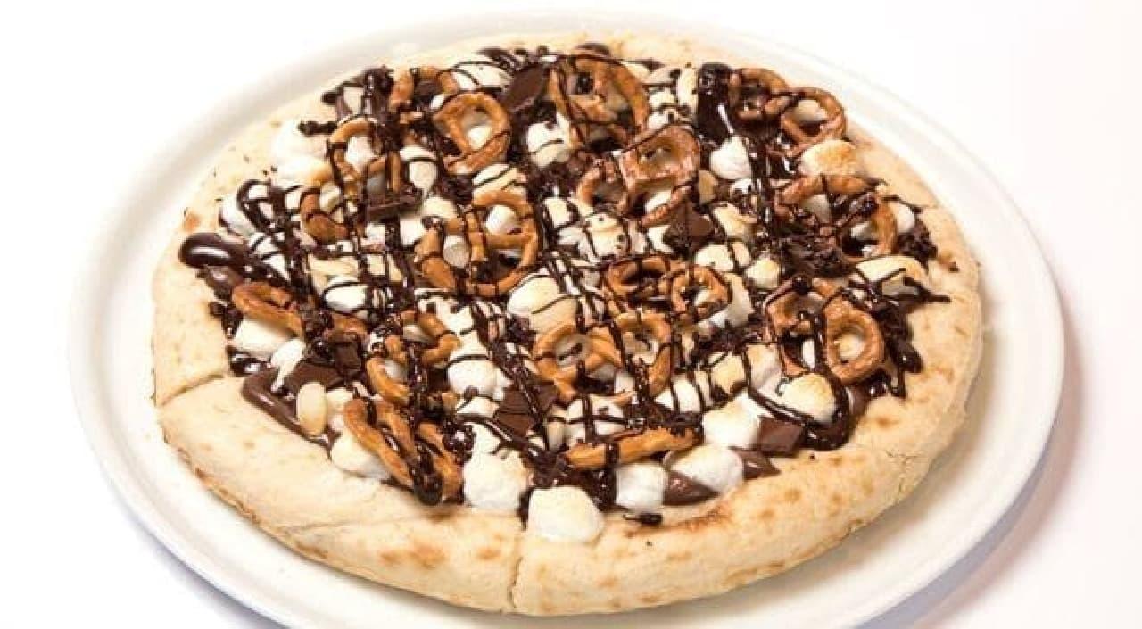 マックスブレナー チョコレートバールクア大阪店「ソルテッドダークチョコレートピザ」