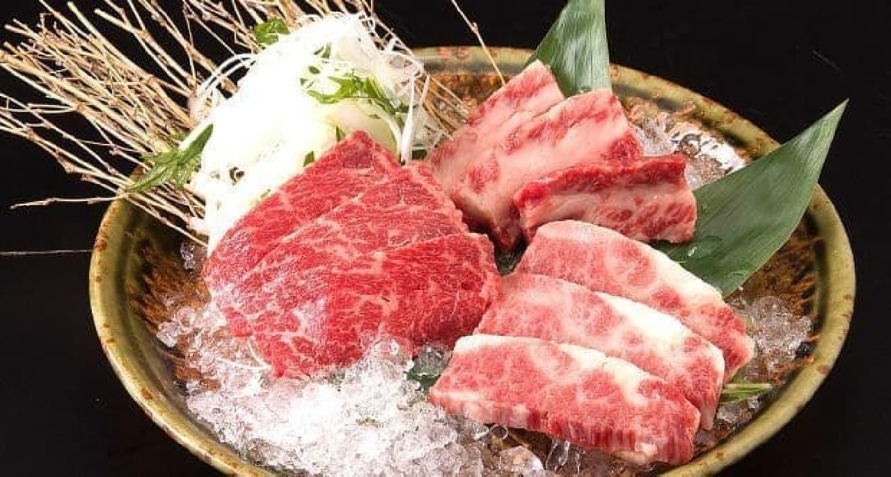焼肉ジェット「漢方牛盛合せ」