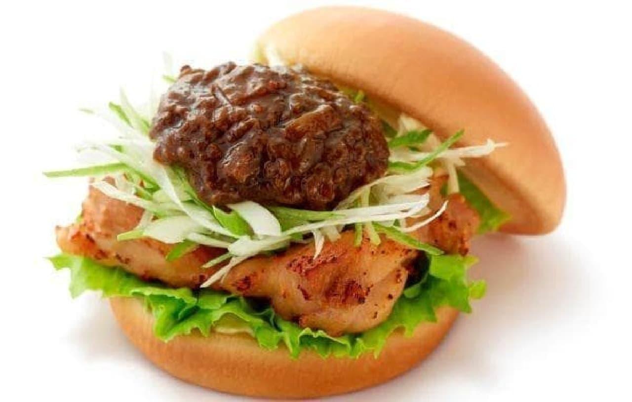 モスバーガー「じゃじゃ味噌チキンバーガー」