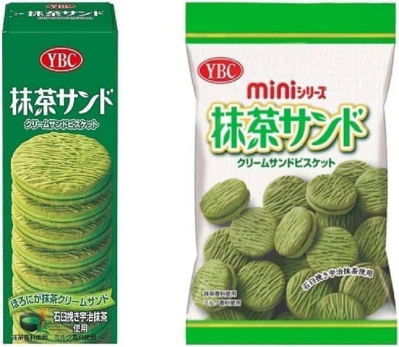 ヤマザキビスケット「抹茶サンド ハンディパック」「抹茶サンド ミニシリーズ」