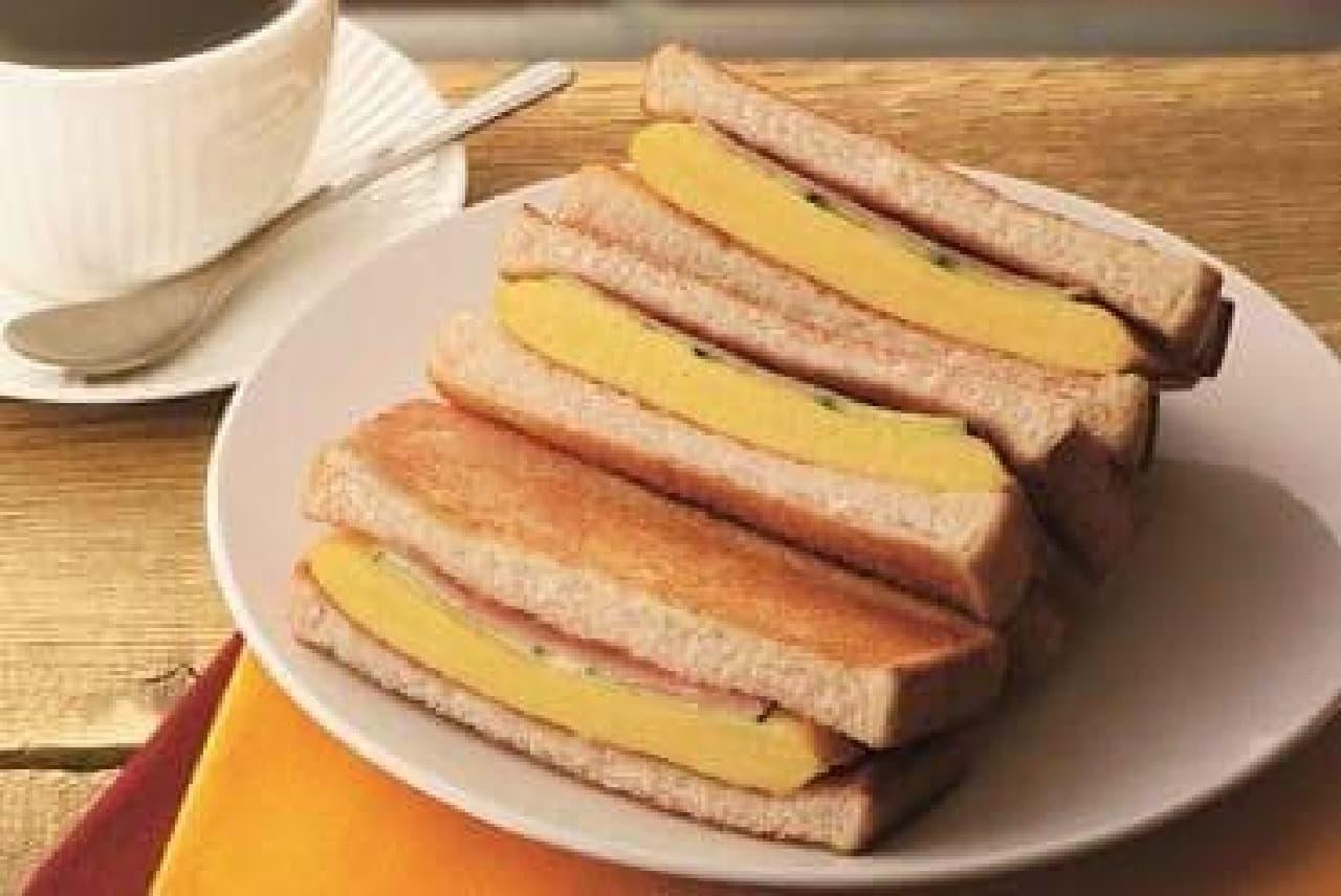 カフェドクリエ「トーストサンド 厚焼きたまご」