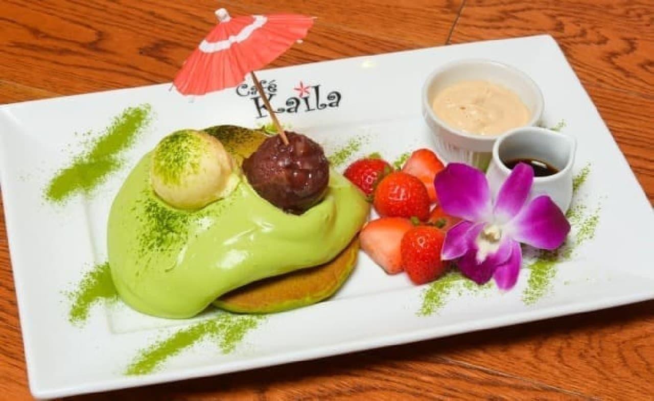 カフェ・カイラ「抹茶パンケーキ~ 舞妓 ~」
