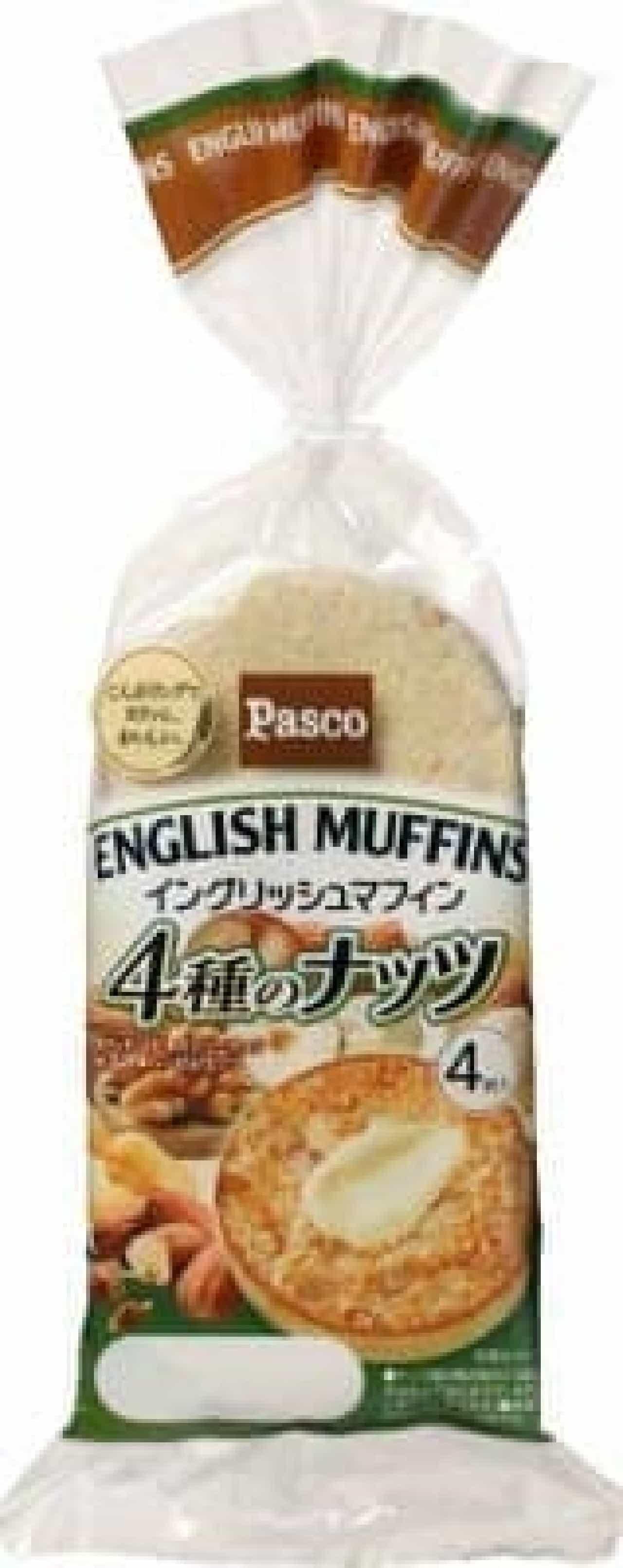 パスコ イングリッシュマフィン 4種のナッツ