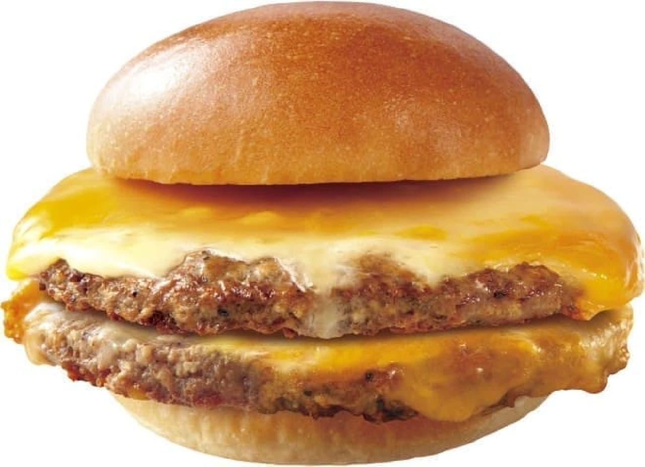 ロッテリア「肉がっつりダブル絶品チーズバーガー」
