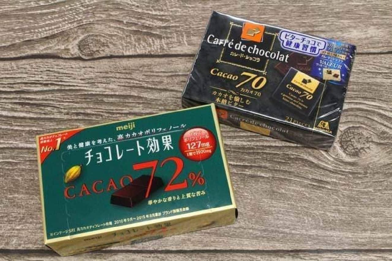 チョコレート効果72% カレ・ド・ショコラ70%