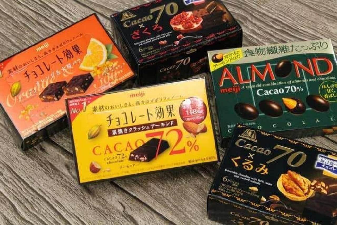 チョコレート効果 カカオ70 アーモンドチョコレート
