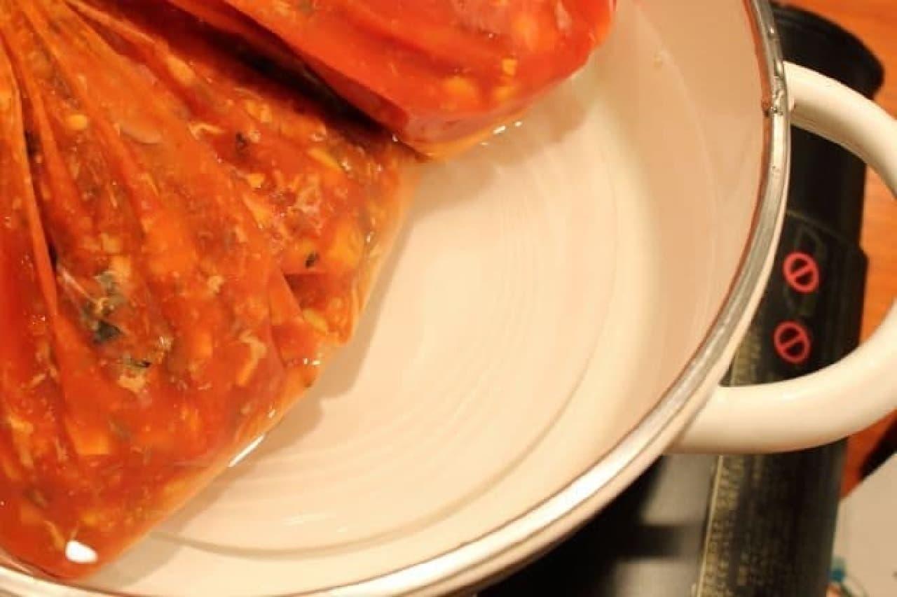 非常時に野菜をとるためのポリ袋レシピ、加熱するときのコツ
