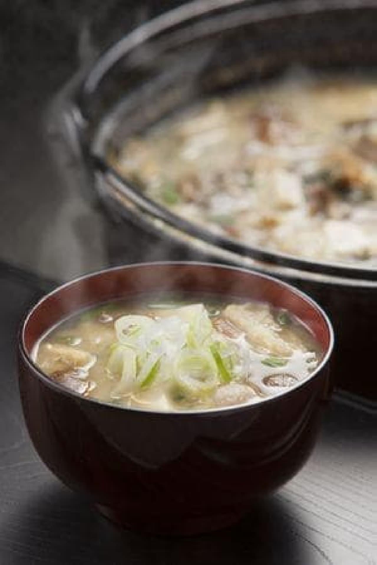 秋田名物すり潰した納豆を入れた「納豆汁」