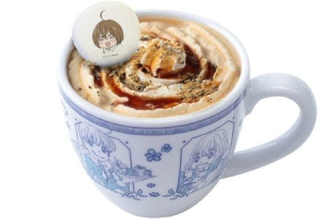 3月のライオン公式カフェ「三日月堂特製あずきミルクティー」